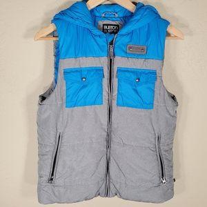 Burton vest hood DryRide full zip pockets Sz. M